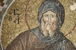 Pammakaristos Church mosaic of Saint Anthony, the desert Father