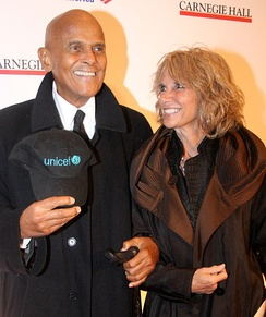 Belafonte with wife Pamela in April 2011