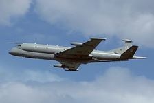 A Hawker Siddeley Nimrod MR2 (HS 801), built at Woodford (former Avro) and designed in Manchester in the mid-1960s, with XV148 (former Comet 4C) making its first flight on 23 May 1967, flying from Chester (Broughton, which had built many de Havilland fighter jet aircraft) to Woodford; 49 Nimrods were made for the RAF, entering service with 201 Sqn on 6 November 1970, serving until March 2010 with 38 Sqn