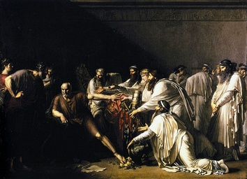 Illustration of the story of Hippocrates refusing the presents of the Achaemenid Emperor Artaxerxes, who was asking for his services. Painted by Girodet.[5]