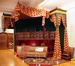 Rudolf, Crown Prince of Austria had his working room decorated in the Turkish style in 1881. It is partially preserved at the Hofmobiliendepot in Vienna.