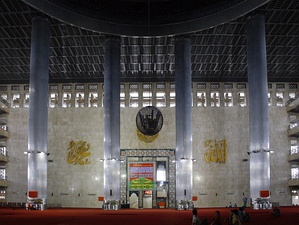 The Istiqlal mosque in Jakarta, Indonesia; the most populous Muslim-majority country