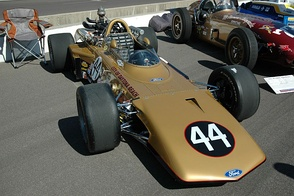 The Eagle driven to 6th place in the 1969 Indianapolis 500 by Joe Leonard