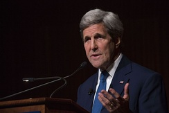 Kerry at the LBJ Presidential Library in 2016