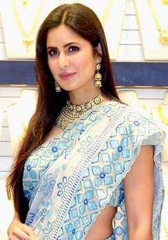 The Indian actress Katrina Kaif is the daughter of an Indian father and a British (English) mother.