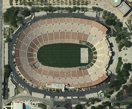 An aerial view of the Coliseum