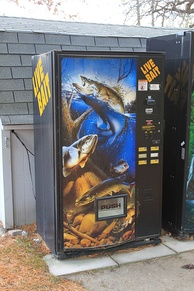 A live bait vending machine