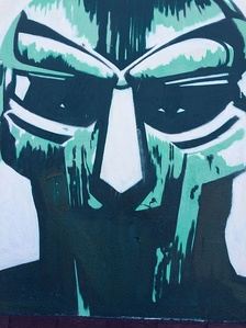 Graffiti of Doom from Madvillainy cover in Little Haiti, Miami, Florida