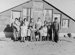 Mennonite family in Montana, c. 1937