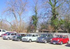 A meeting of the Mini Owners of Texas club in Grapevine, Texas