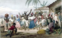 Jongo, a dance and musical genre of African origin, c. 1822