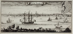 View of New York harbor, ca. 1770