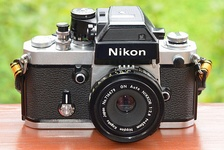 Nikon F2SB SLR camera with DP-3 finder and GN Auto Nikkor 1:2,8 f=45mm lens