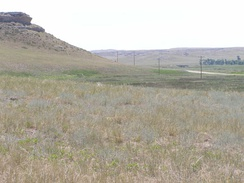 Miocene epoch layers under late Pleistocene and Holocene layers Agate Fossil Beds National Monument, Nebraska