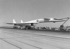 XB-70A on the taxiway on 21 September 1964, the day of the first flight
