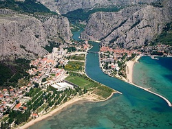 Aerial view of Omiš