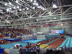 Torino's Olympic Oval hosting the 2009 European Athletics Indoor