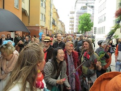 Sweden: Stockholm's Peace and Love Rally through the south side of the city drew hundreds of marchers and celebrants in May 2015