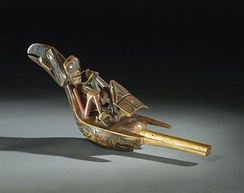 Raven rattle, 19th century, Brooklyn Museum