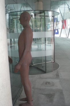 Statue by Sir Antony Gormley outside DS Smith's head office in Euston Road