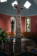 The Ruthwell Cross, a stone Anglo-Saxon cross located in Ruthwell, Dumfriesshire (8th century)