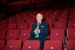 Forsyth opening The Sir Bruce Forsyth Auditorium at the Millfield Theatre, Enfield, in October 2009