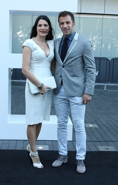 Del Piero and his wife Sonia at the 2013 ARIA Music Awards in Sydney, Australia.