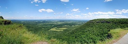 View of the towns of Guilderland and New Scotland and the city of Albany from Thacher Park