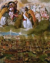 The Battle of Lepanto by Paolo Veronese (c. 1572, oil on canvas, 169 × 137 cm, Gallerie dell'Accademia, Venice)