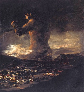 The Colossus by Francisco Goya, a representation of the war in Spain