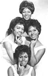 "The Shirelles in 1962. Clockwise from top: Addie ""Micki"" Harris, Shirley Owens, Beverly Lee, and Doris Coley."