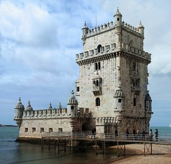 The Belém Tower, one of the most famous and visited landmarks in Lisbon and throughout Portugal.