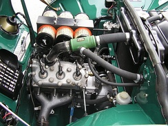 A tuned version of a Saab inline-three-cylinder two-stroke engine