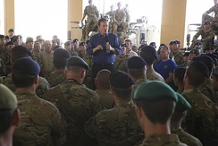 Cameron visits British troops in Afghanistan, 3 October 2014