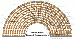 The 435 seats of the House grouped by state