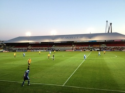 Rodney Parade, home of Newport County, Dragons, and Newport RFC