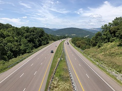 I-68 and US 40 in Allegany County