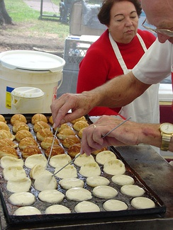 Aebleskiver at the annual Scandinavian Festival.