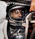 Alan Shepard in Freedom 7 spacecraft before launch