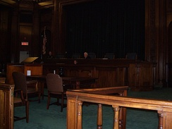 the bar (railing) at the Rhode Island Supreme Court