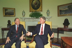 Riordan with President Bill Clinton in 1993