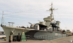 Polish destroyer ORP Błyskawica, currently preserved as a museum ship in Gdynia.