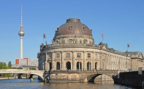Bode Museum at the tip of Museum Island in the Spree