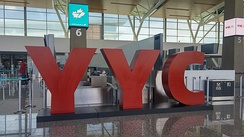 The YYC sign