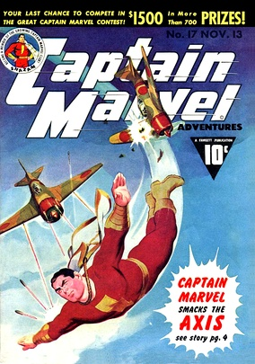 Captain Marvel, an iconic and influential example of the genre.