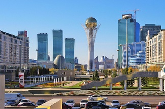 Downtown of Nur-Sultan