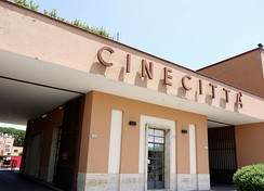 Entrance to the Cinecittà studios