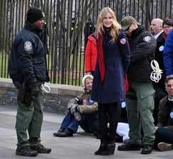 Hannah being arrested in Washington, D.C. while protesting the Keystone XL pipeline, 2013