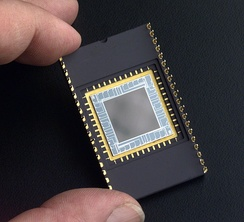 A specially developed CCD in a wire-bonded package used for ultraviolet imaging