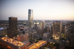 The Central Business District of downtown Oklahoma City